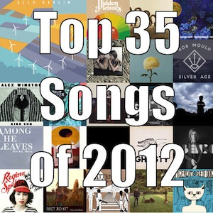 Top 35 songs of 2012